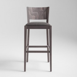 Wooden upholstered stool - Soko