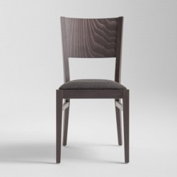 Wood chair with padded seat - Soko