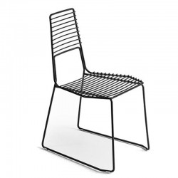 Alieno metal chair with low...