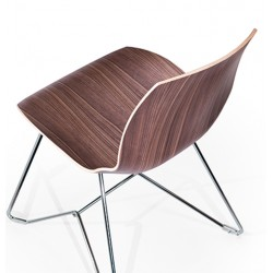 Kaleido wood chair with sled frame