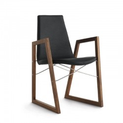 Padded chair with arms - Ray