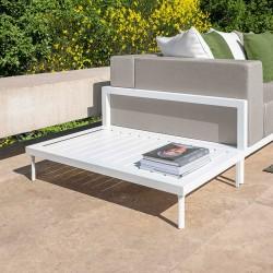 Tavolino basso da esterno in alluminio - Cleo