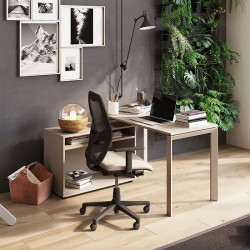 Scrivania con Mobiletto Home Office - Andrea