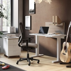 Desk with frontal panel - Anna
