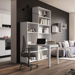 Scrivania home office con libreria - Luca