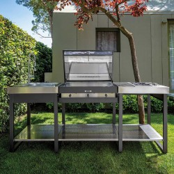 Cucina da esterno con BBQ e piano cottura - Yellowstone 2