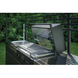 Cucina da esterno con BBQ e piano a induzione - Wild