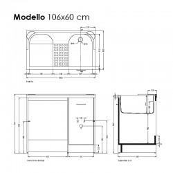 Cabinet washtub with washing machine compartment - Domestica