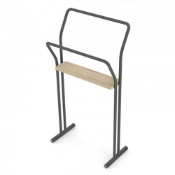 copy of Towel holder in steel and wood - Gongolo