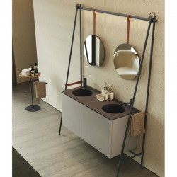 Bathroom cabinet with double sink - Altalena