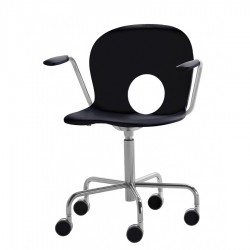 Olivia swivel armchair on castors