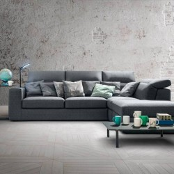 Sofa with container, led light and optional bed - Zippy