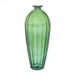 Vase large in green glass - Zuri
