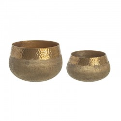 Low Pair of Vases in bronze colour - Chad