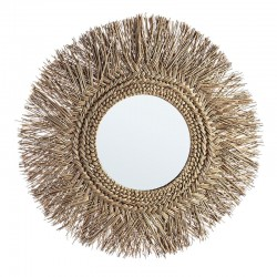 Specchio rotondo in bamboo - Batak