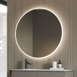 Specchio tondo da bagno retroilluminato - Mood
