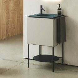 Small Bathroom cabinet floor structure - Cubo