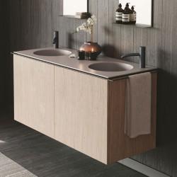 Suspended Bathroom cabinet with double sink - Regolo