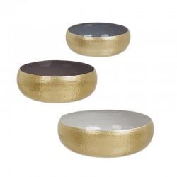 Set 3 Ciotole / Centrotavola color oro - Amir