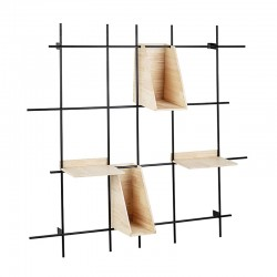 Panel shelf with grid for desk - Job
