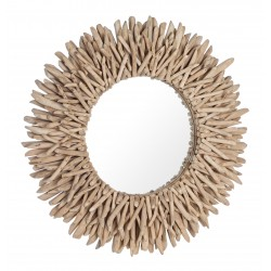Round Mirror in wood- Saray