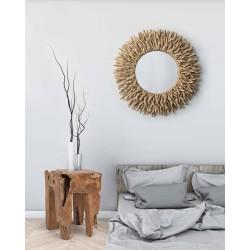 Round Mirror in wood- Saray