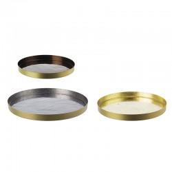 Set 3 vassoi in metallo - Sur