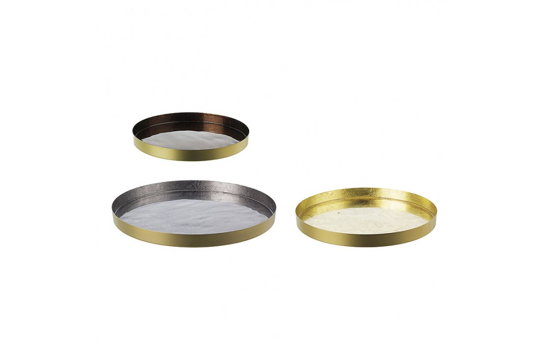 copy of Set 3 Bowls / Centerpiece in gold - Gold
