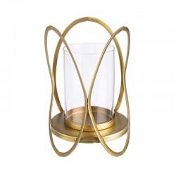 Set 2 Candleholder in gold / black steel - Esi