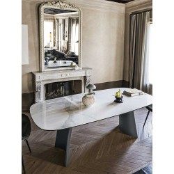 Fixed table with crystal top - Moonlight