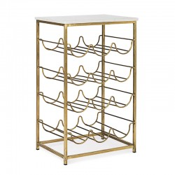 Bottles rack in brass and marble - Winery