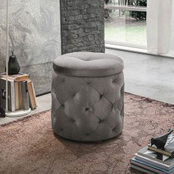 Storage pouf in velvet - Pupo 2