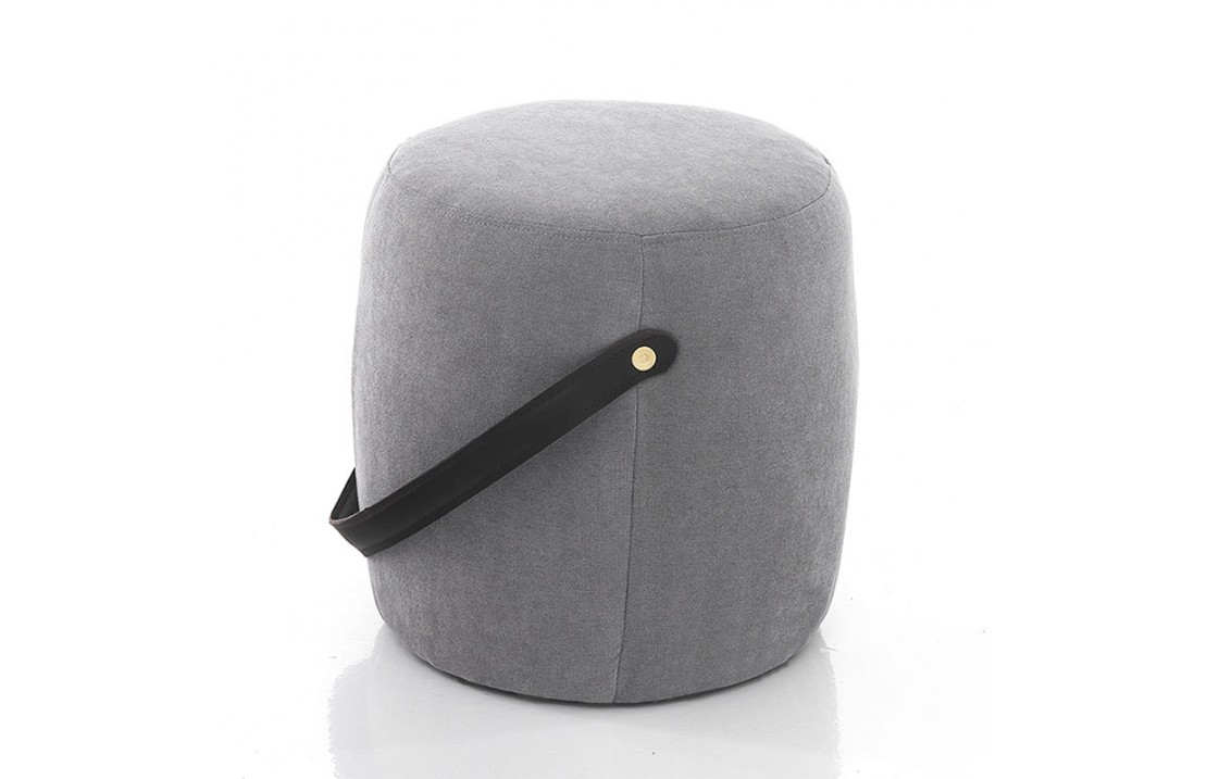Pouf in fabric with handle - Liam