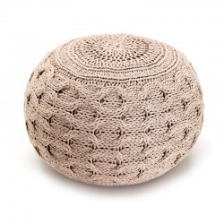Round Pouf in cotton - Noa