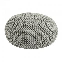 Pouf intreccio in maglia di cotone - Kiera