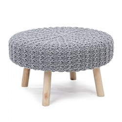 Footstool in fabric and wood - Ivar