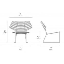 Alieno metal lounge chair indoor/outdoor