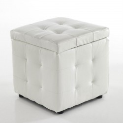 Pouf contenitore in similpelle - Serge