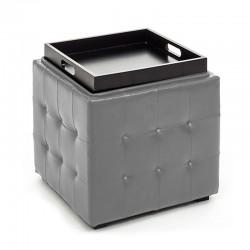 Pouf contenitore con vassoio - Renè