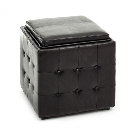 Container Pouf with tray - Renè