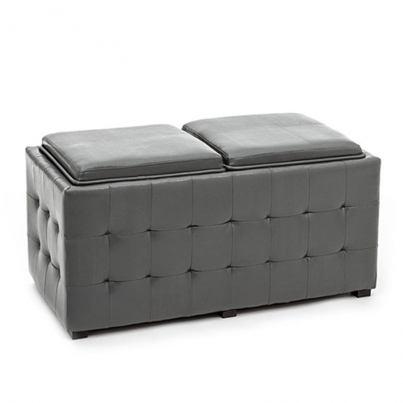 Double Container Pouf with tray - Renè Double