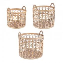 Set of 3 Storage basket in Bamboo - Tao