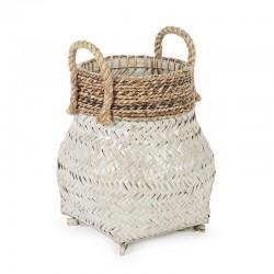 Cesto contenitore intreccio Bamboo e corda - Dora