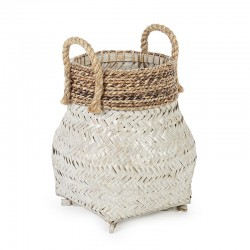 Storage basket in Bamboo and rope woven - Dora