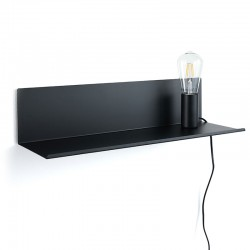 Metal Shelf / Bedside table with lamp - Ariel