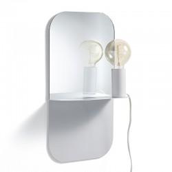 Specchio / Mensola con Lampada movibile - Alma