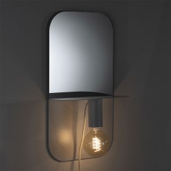 Mirror / Shelf with movable lamp - Alma