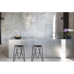 Upholstered stool H.45/65/75 cm - Apelle