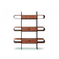 Bookcase with wooden shelves - Apelle