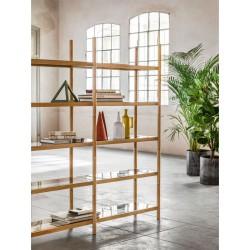 Libreria componibile con ripiani in vetro - Siena